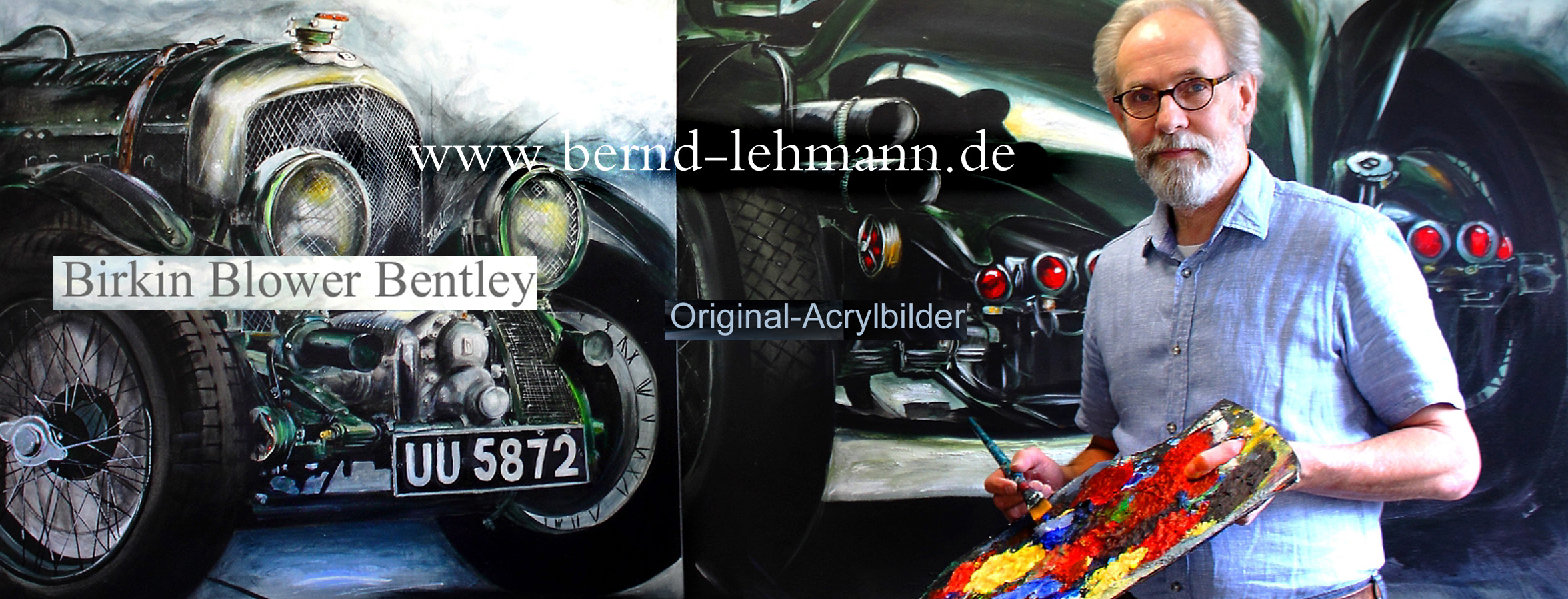 bentley-acrylbild-lehmann-car-and-art-birkin-blower -neu